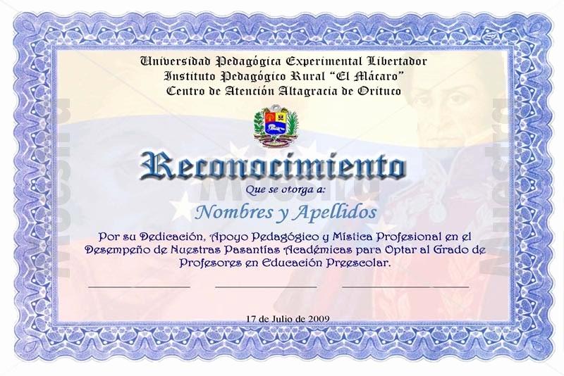 Ejemplos De Certificados De Reconocimiento Luxury formato Para Reconocimientos