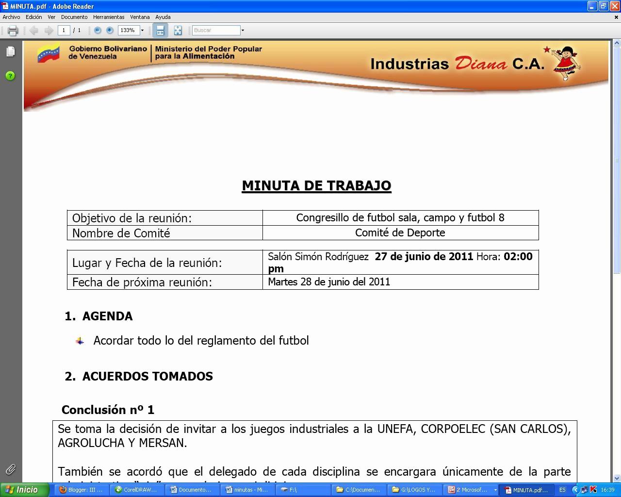 Ejemplos De Minutas De Reunion Luxury Indulafina socialista Congresillo De Futbol Sala Campo Y