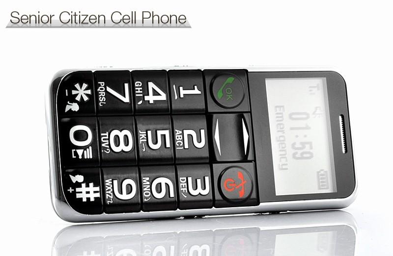 Electronic Address Book for Seniors Beautiful Senior Citizen Quad Band Cell Phone with Flashlight [tem