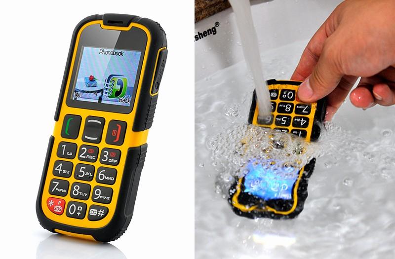 waterproof senior citizen rugged cell phone quad band dual sim bluetooth sos p 2534