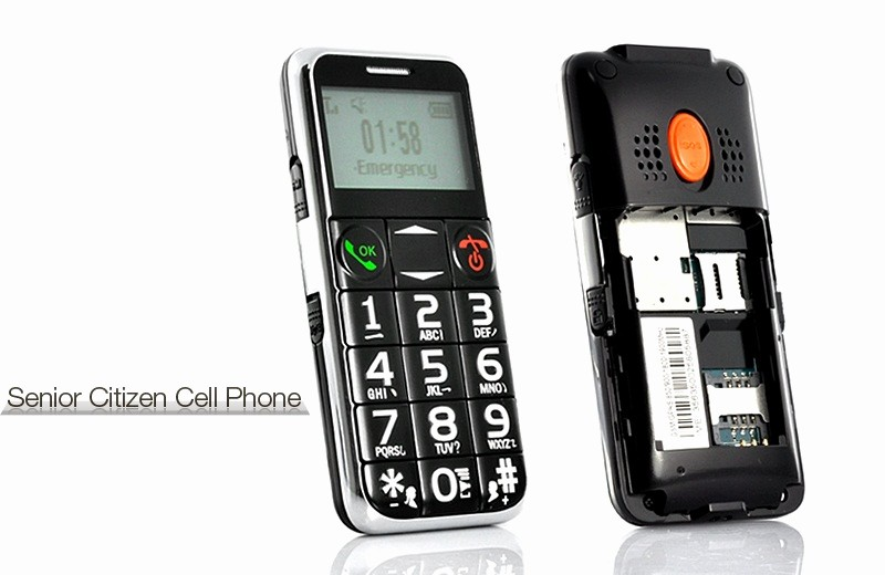 Electronic Address Book for Seniors Luxury Senior Citizen Quad Band Cell Phone with Flashlight [tem