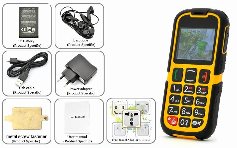 Electronic Address Book for Seniors New Rugged Senior Citizen Phone Dual Sim Quad Band
