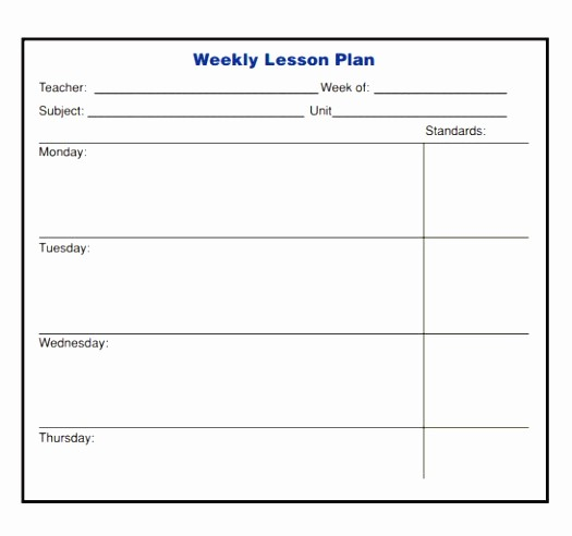 Elementary Lesson Plan Template Word Awesome 10 Weekly Lesson Plan Templates for Elementary Teachers