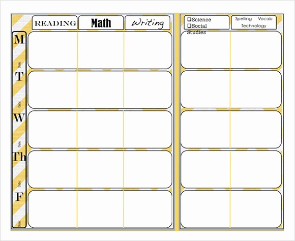 Elementary Lesson Plan Template Word Beautiful 9 Sample Weekly Lesson Plans
