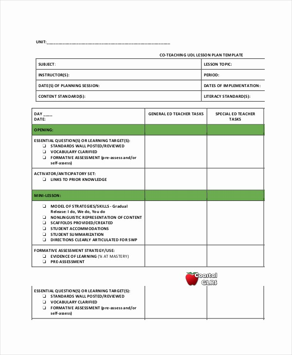 Elementary Lesson Plan Template Word Best Of 48 Teaching Lesson Plans Template Lesson Plan Template