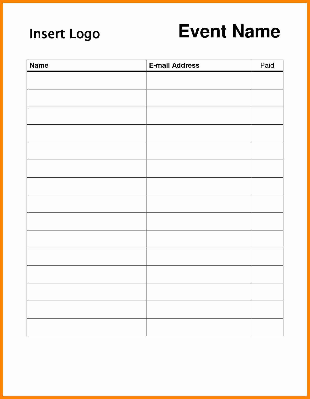 Email Sign In Sheet Template Beautiful Word Template Sign Up Sheet Portablegasgrillweber
