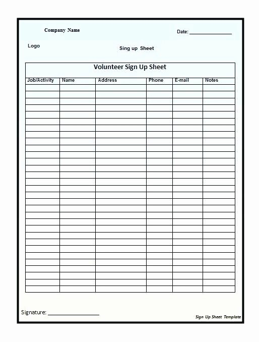 Email Sign In Sheet Template Unique Email Sign Up Sheet Template – Flirty