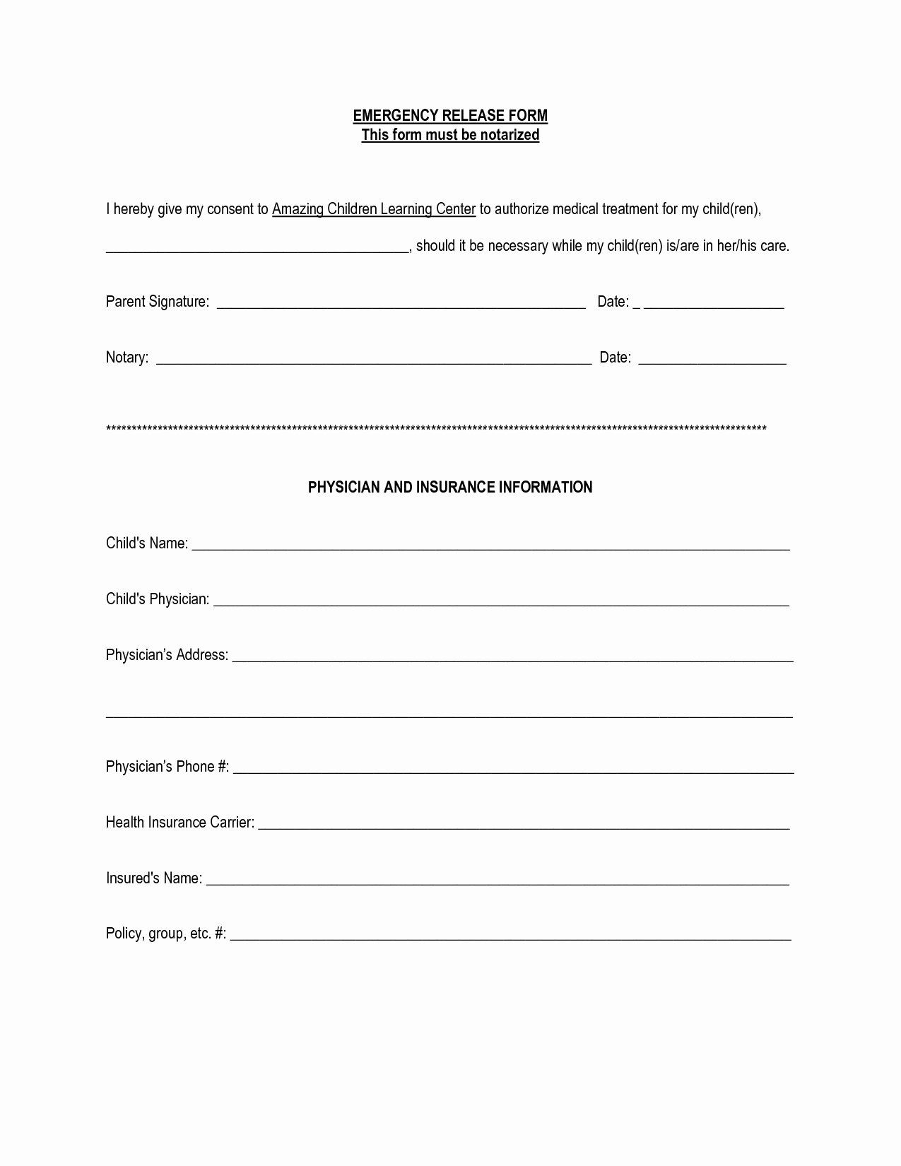 Emergency Contact form for Children Luxury Best S Of Contact form Template Contact Information