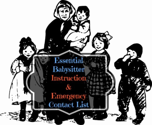 Emergency Contact List for Babysitter Awesome F520