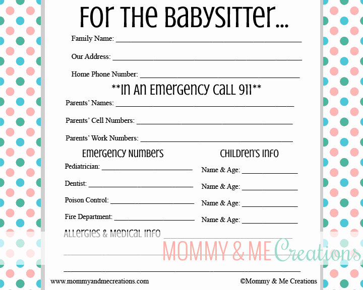 Emergency Contact List for Babysitter Lovely Babysitter Checklist Template Driverlayer Search Engine