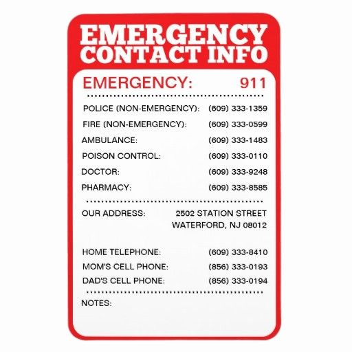 Emergency Contact List for Babysitters Beautiful Best Family Disaster Kit Tramadol Emergency Telephone