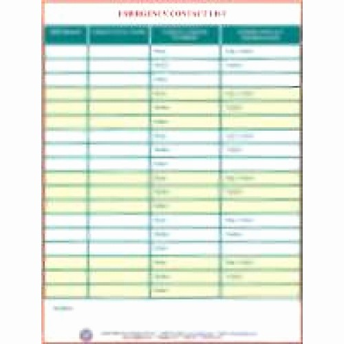 Emergency Contact List for Babysitters Best Of Emergency Contact List
