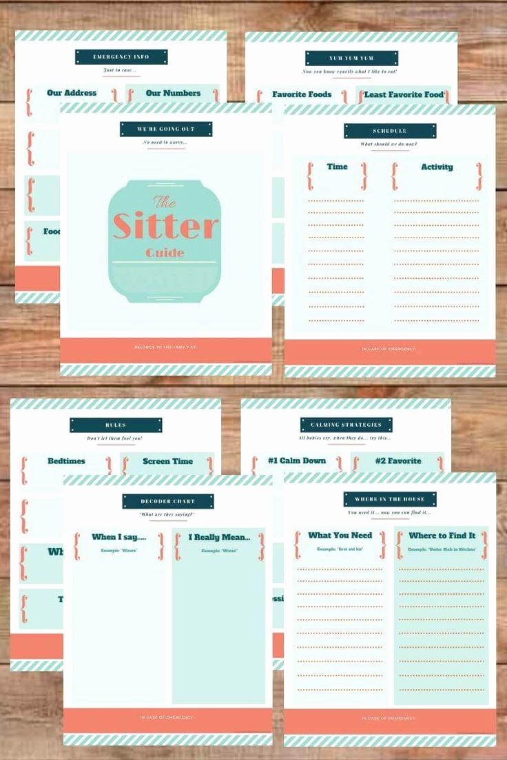 Emergency Contact List for Babysitters Unique Best 25 Babysitter Checklist Ideas On Pinterest