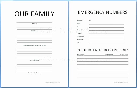 Emergency Contact List for Business Inspirational Daycare Emergency Phone Number List Template Printable