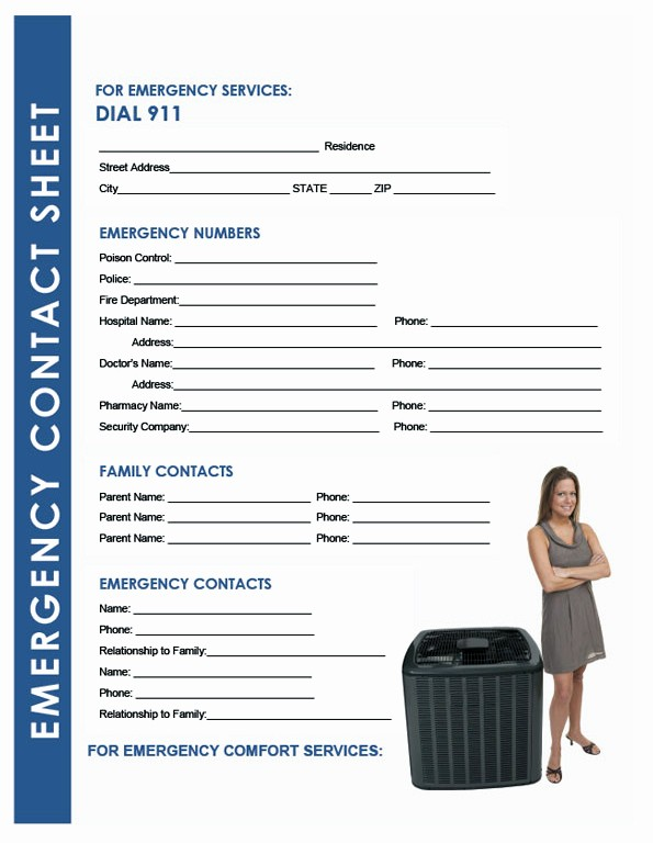 Emergency Contact List for Business Inspirational Give Your Hvac Customers An Emergency Contact List
