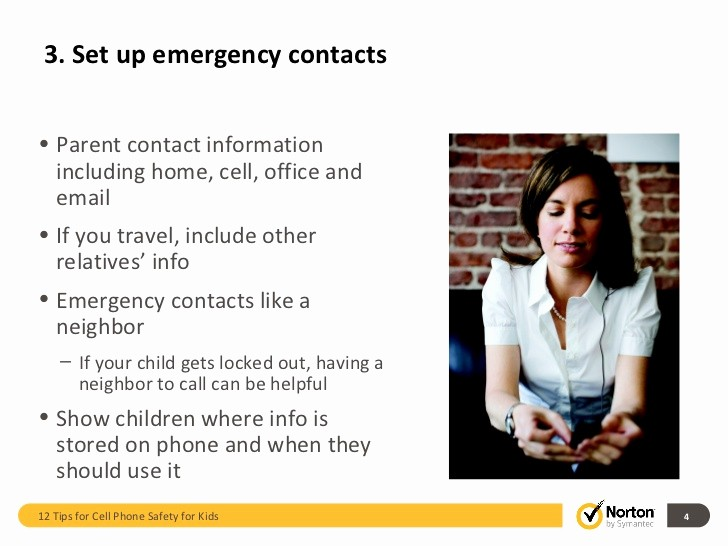 Emergency Contact List for Kids Fresh 3 Set Up Emergency Contacts•