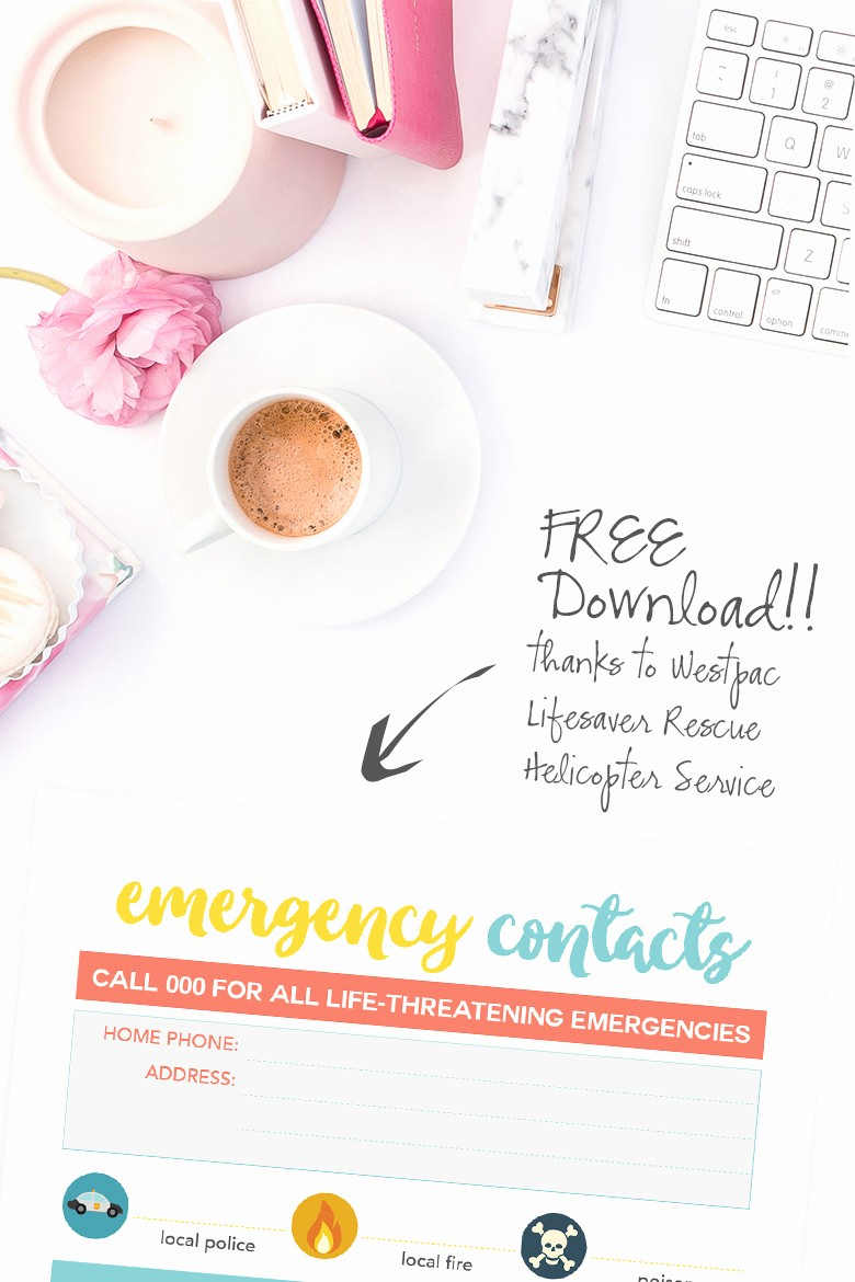 Emergency Contact List for Kids Unique Free Emergency Contacts Printable Fun App for Kids the