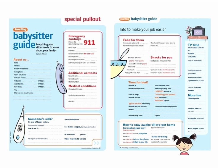Emergency Contact List for Nanny Beautiful Best 25 Babysitter Checklist Ideas On Pinterest