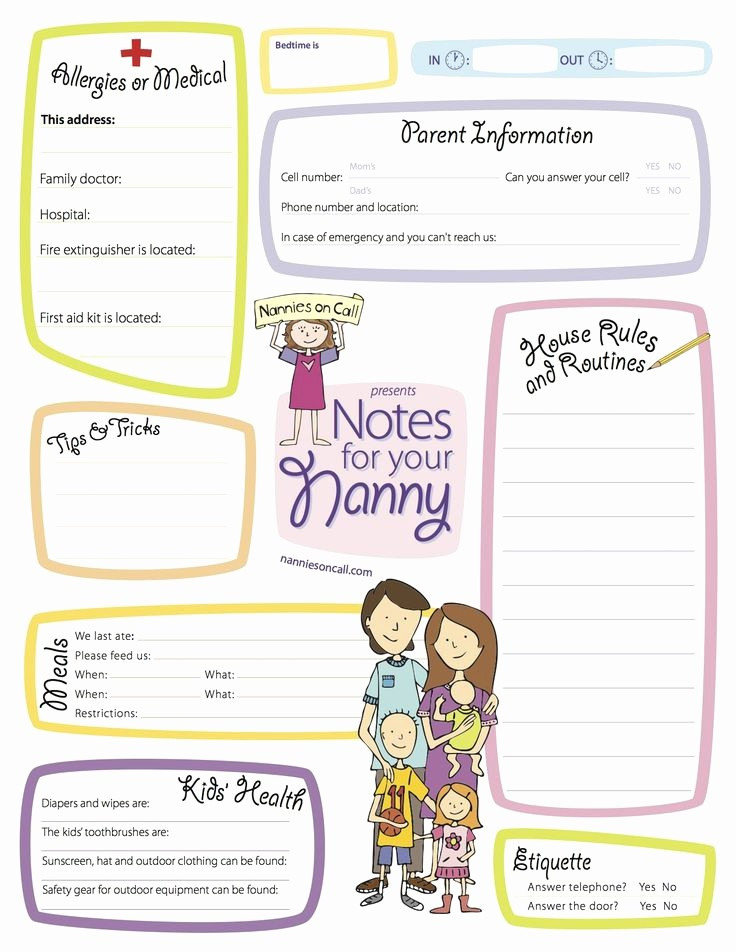 Emergency Contact List for Nanny Inspirational Notes for Your Nanny is A Great Way to Let Your Nanny or