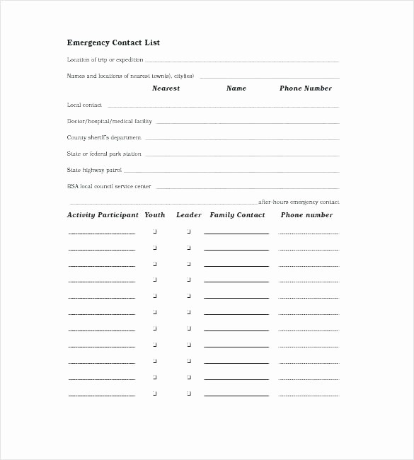 Emergency Contact List Template Excel Inspirational Create A Family Emergency Binder Grab and Go to Help