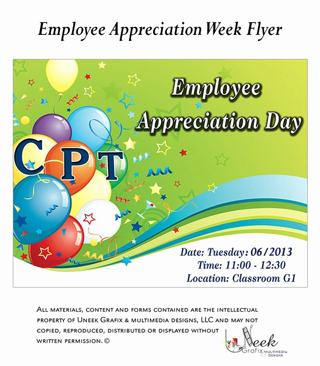 Employee Appreciation Day Flyer Template Beautiful 7 Best Of Employee Lunch Flyer Template Employee