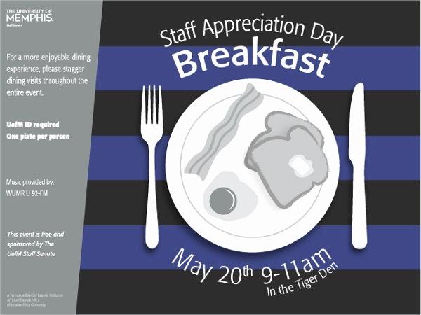 Employee Appreciation Day Flyer Template Fresh 9 Appreciation Breakfast Invitations Jpg Vector Eps
