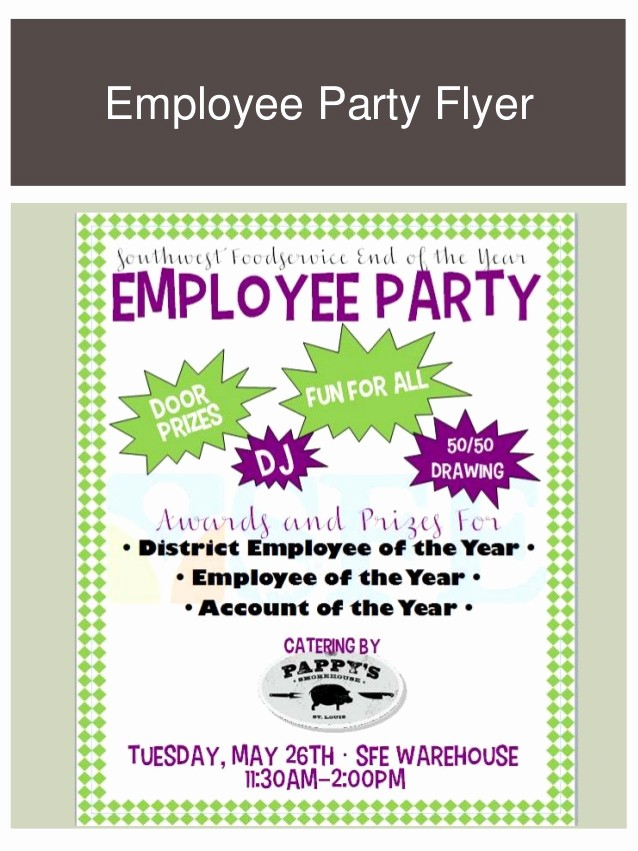 Employee Appreciation Day Flyer Template Fresh Marketing Portfolio