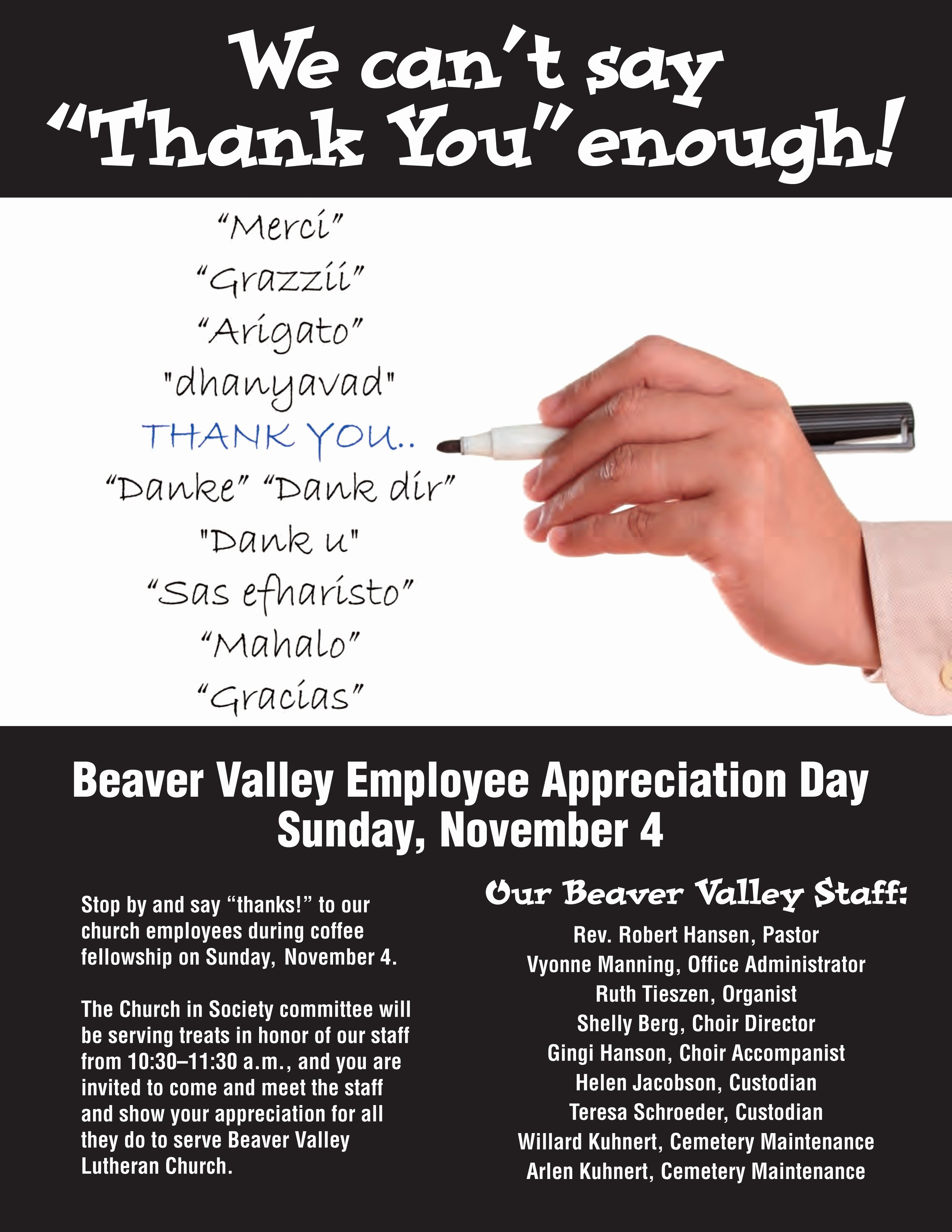 Employee Appreciation Day Flyer Template Inspirational Employee Appreciation Lunch Flyer