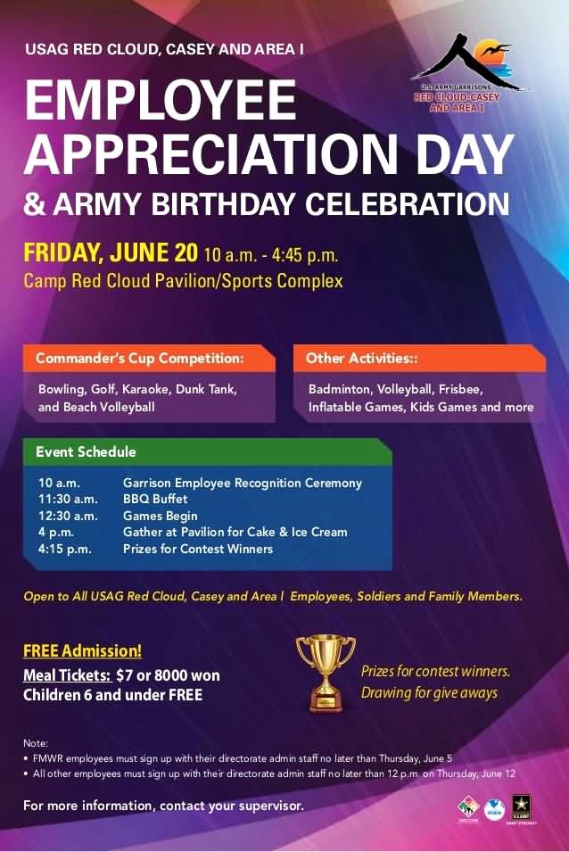 Employee Appreciation Day Flyer Template New Staff Recognition Luncheon Invitation