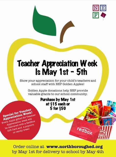 Employee Appreciation Day Flyer Template Unique order Teacher Appreciation Week Golden Apples by May 1