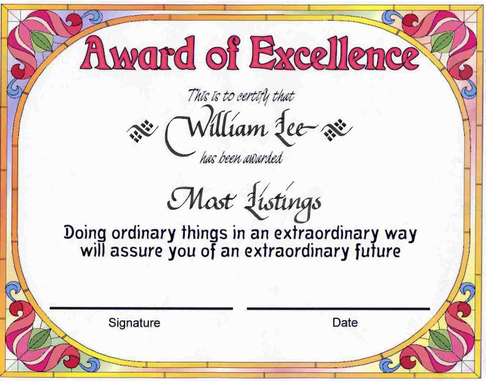 Employee Award Certificate Templates Free Beautiful Employee Recognition Certificate Template
