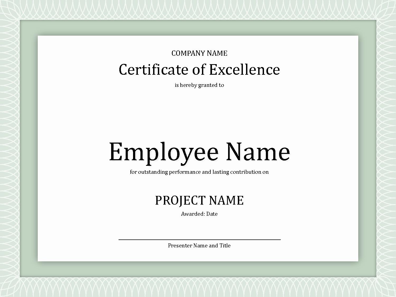 Employee Award Certificate Templates Free Elegant 8 Best Of Employee Award Certificate Templates