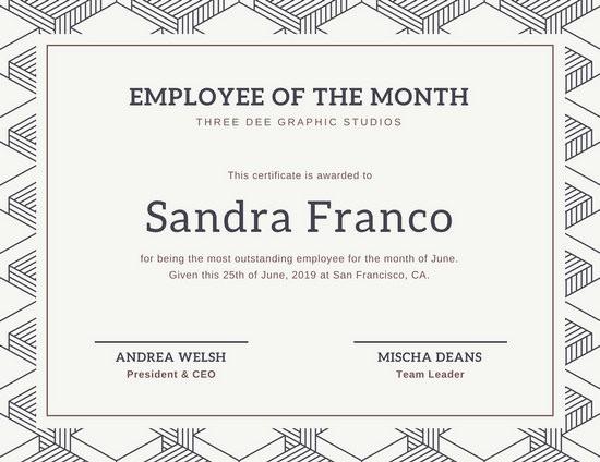 Employee Award Certificate Templates Free Fresh Customize 1 508 Employee the Month Certificate