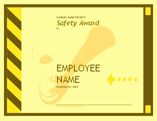 Employee Award Certificate Templates Free Fresh Employee Safety Award Free Certificate Templates In