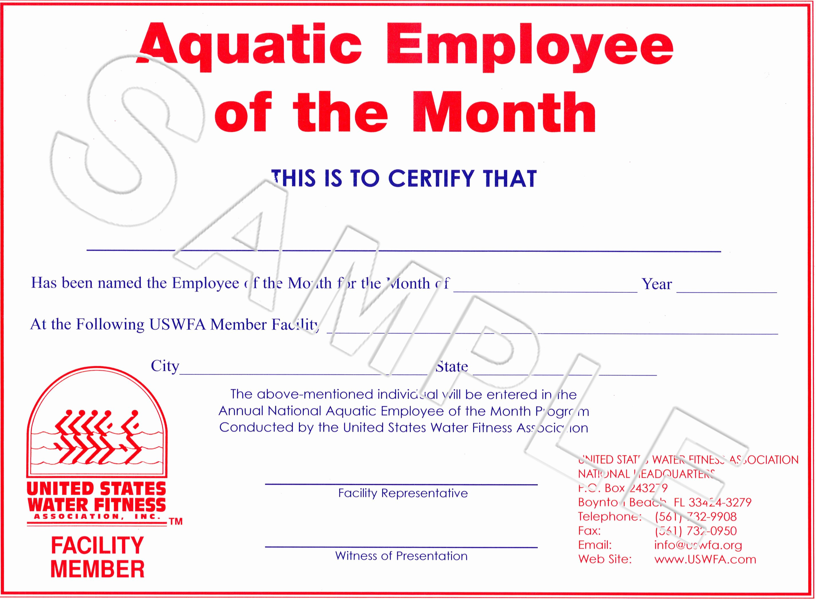 Employee Award Certificate Templates Free Fresh Free Employee the Month Certificate Template