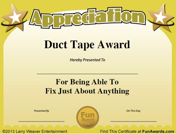 Employee Award Certificate Templates Free Fresh Fun Award Templatefree Employee Award Certificate