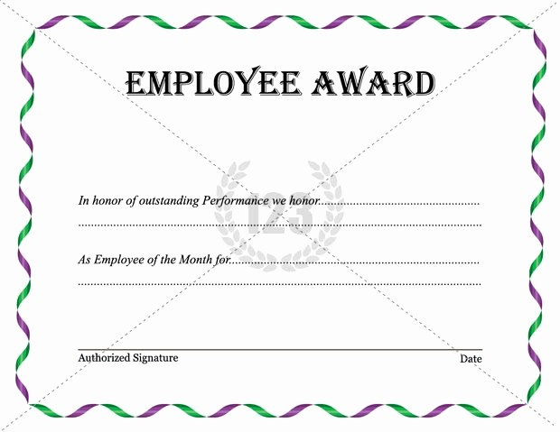 Employee Award Certificate Templates Free Lovely Best Employee Award Template Download now