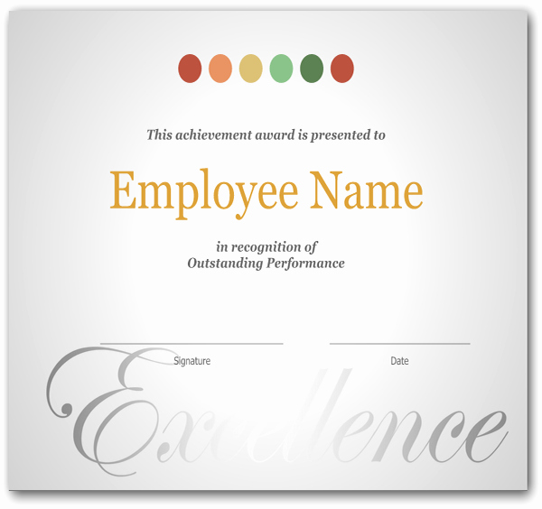 Employee Award Certificate Templates Free Luxury Simple Employee Recognition Awards Certificate Sample V