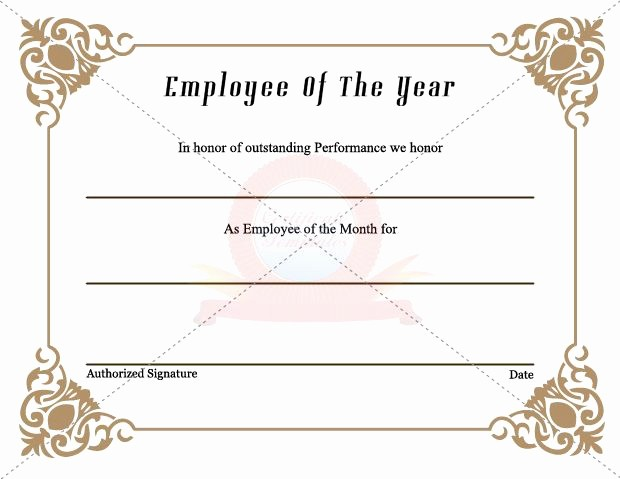 Employee Award Certificate Templates Free Unique 7 Best Employee Certificate Images On Pinterest