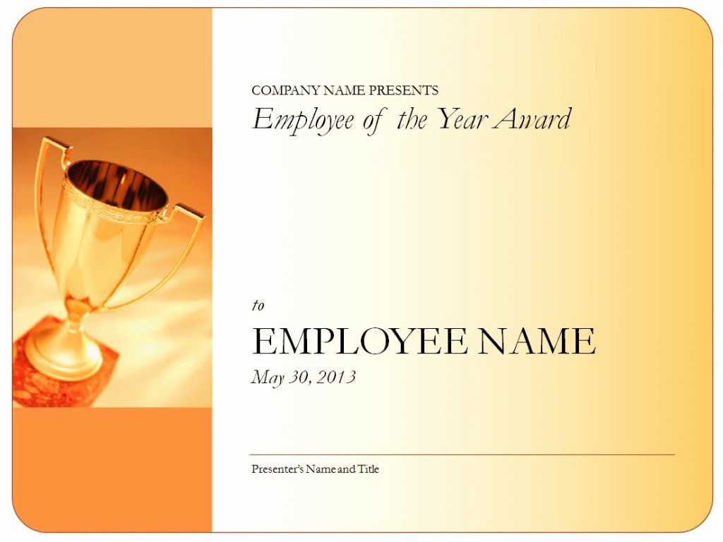 Employee Award Certificates Templates Free Awesome Employee Of the Year Certificate