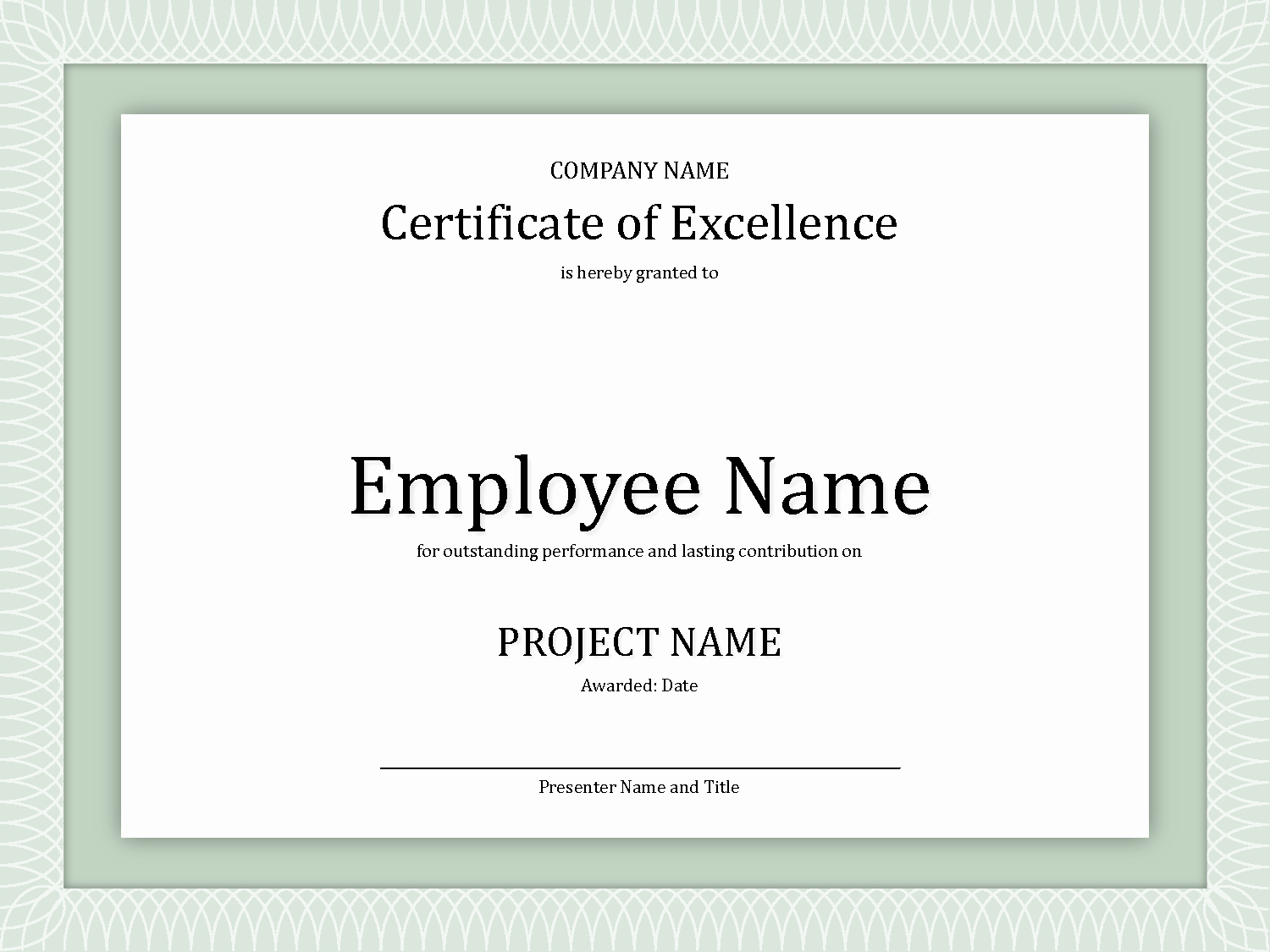 Employee Award Certificates Templates Free Elegant 8 Best Of Employee Award Certificate Templates