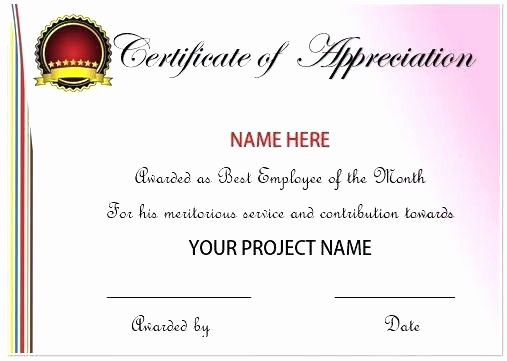 Employee Award Certificates Templates Free Fresh Employee Recognition Certificates Free Download Printable
