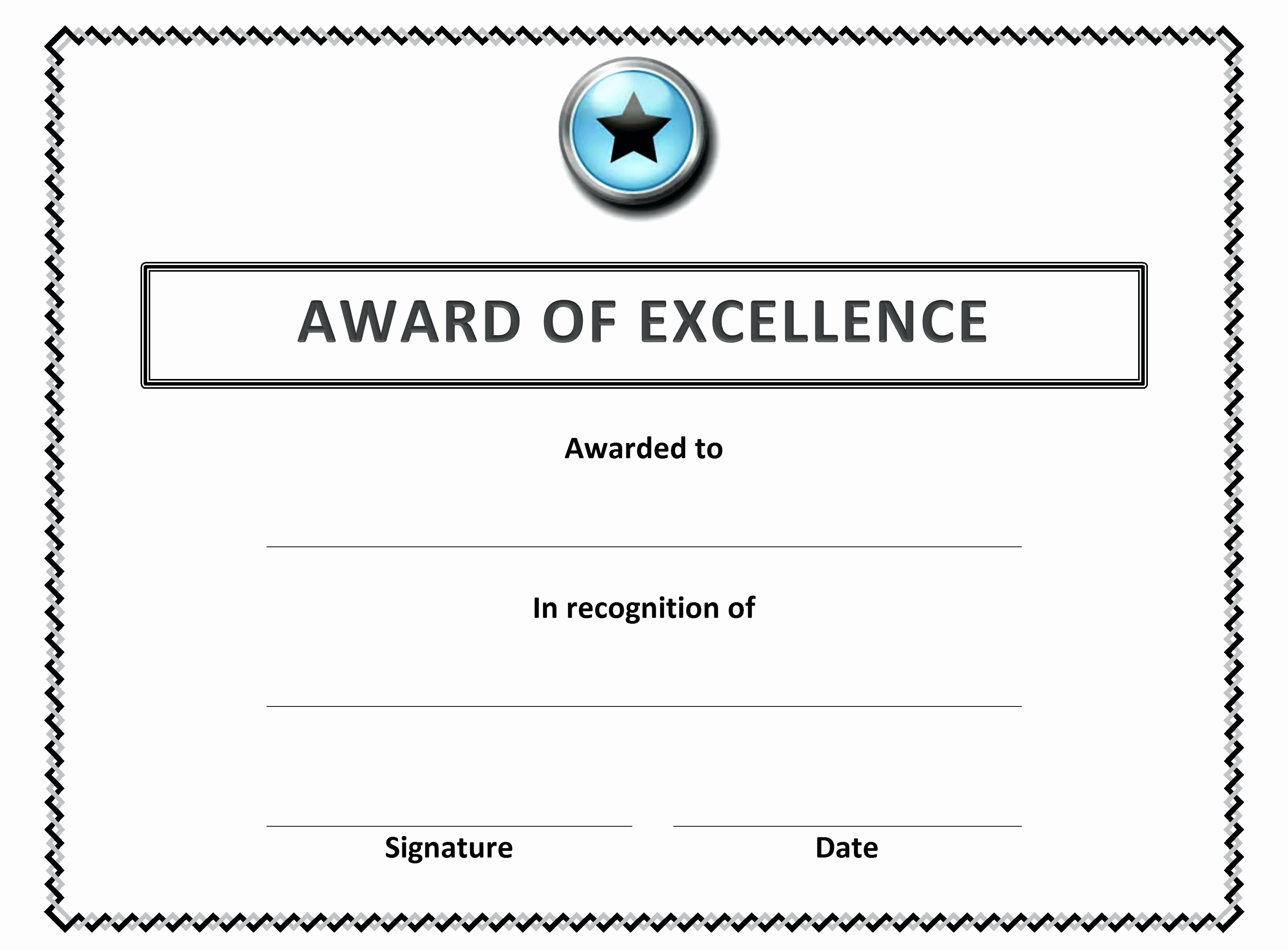 Employee Award Certificates Templates Free Fresh Template Employee Recognition Award Template