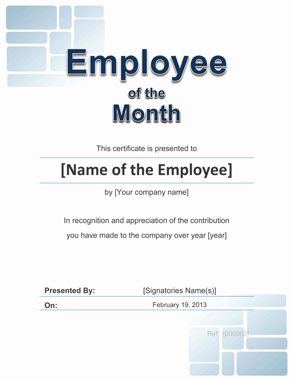 Employee Awards Certificates Templates Free Awesome Employee Award Cetificate
