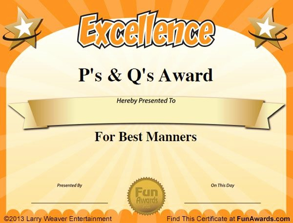 Employee Awards Certificates Templates Free Awesome Free Funny Award Certificates Templates