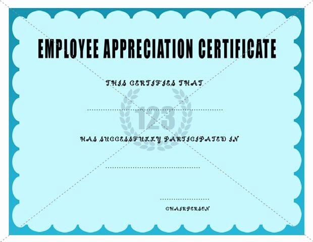 Employee Awards Certificates Templates Free Beautiful Employee Appreciation Certificate Template Certificate