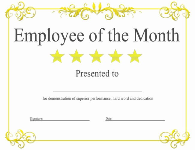 Employee Awards Certificates Templates Free Fresh Epic Editable Template Example Of Employee Of the Month