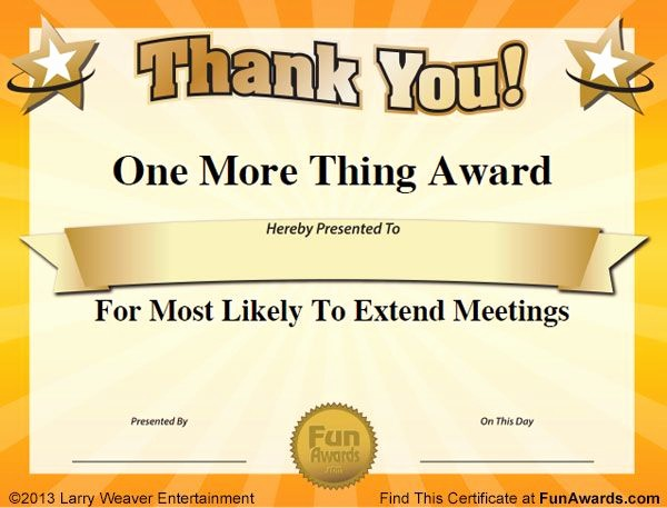 Employee Awards Certificates Templates Free New Silly Fice Awards Work Ideas Pinterest