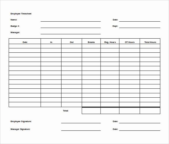 Employee Bi Weekly Timesheet Template Beautiful Biweekly Timesheet Template for Multiple Employee