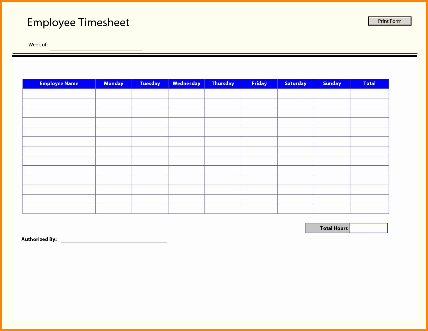 Employee Bi Weekly Timesheet Template Luxury Free Timesheet Template Word Portablegasgrillweber